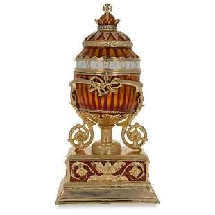 Russian Enamel & Gilt Trinket Jewel Box Egg