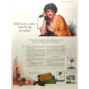 1925 Palmolive Soap Magazine Ad