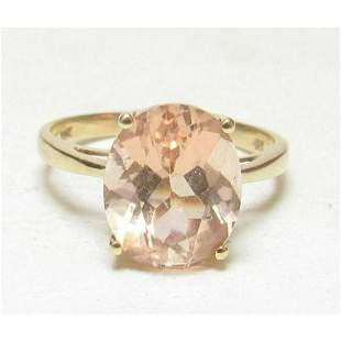 3.30ct Estate Natural Pink Peach Morganite 10kt Gold