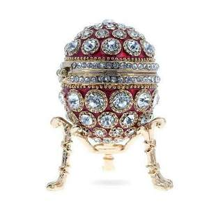 Round Crystals Royal Inspired Russian Trinket Jewel Box