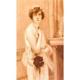 Paul Chabas, 1926 Art Deco Socialite Portrait Print