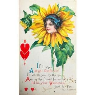 Original Edwardian Era Valentines Day Chromolithograph