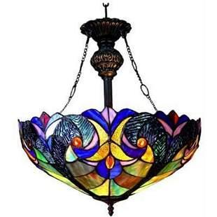 Victorian Art Glass Ceiling Pendant Fixture