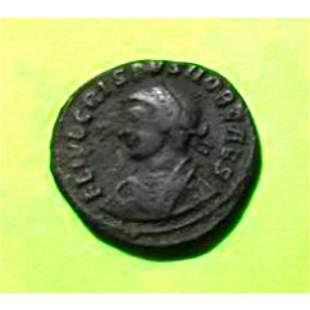 Ancient AE Coin, Crispus ( 317-326 AD ) Alexandria,