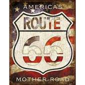 Route 66 Americas Mother Road Metal Pub Bar Sign