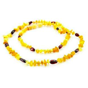 Baltic Cherry & Honey Amber Necklace