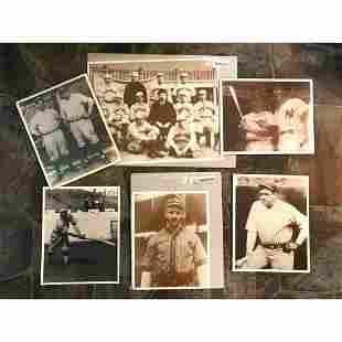 Group of Vintage Historical Baseball Theme Photo Prints