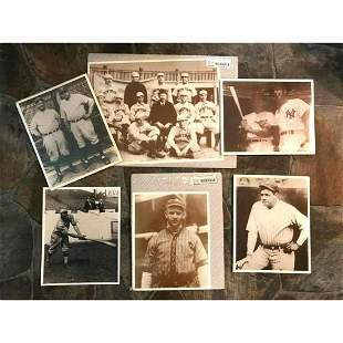 Group of Vintage Historical Baseball Theme Photo Prints