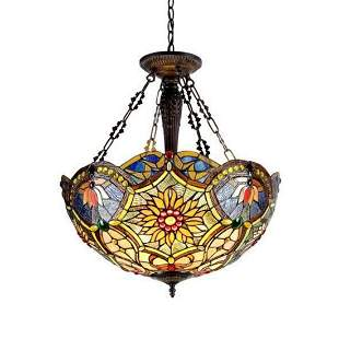 Victorian Sunflower Inverted Stained Glass Ceiling