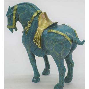 Limited Edition Signed Bronze Tang Horse Sculpture