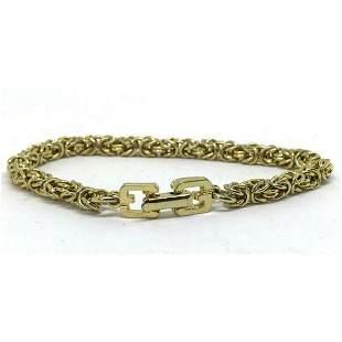 Vintage French GIVENCHY Gold Tennis Bracelet
