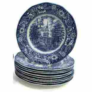 English Staffordshire Blue Transferware Liberty Blue,
