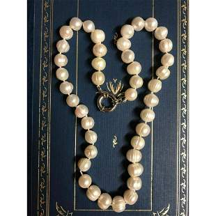 """10-11mm Cultured Baroque Pearl 18"""" Necklace"""