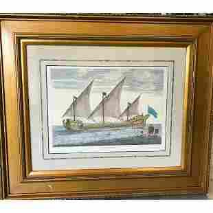 Sailing Ship Framed Lithograph Print