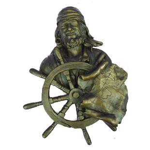 Signed Original Pirate Sea Captain Bronze