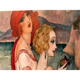 After Gerda Wegener, The Danish Girls Wife,