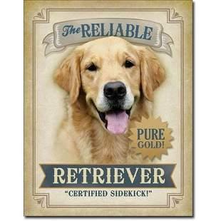 The Reliable Retriever Metal Pub Bar Sign