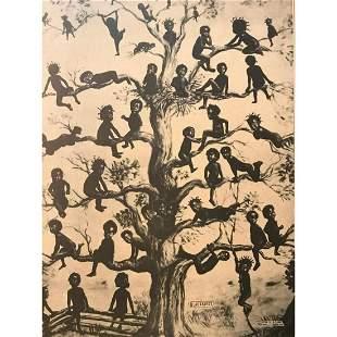 Sepia Tone Print, Blackbirds, African Amerian History
