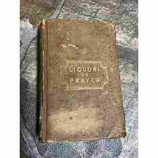 Mid 19thc Prayer Book, A Short Treatise On Prayer, St.