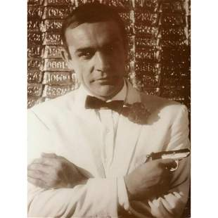 James Bond, Sean Connery Sepia Photo Print