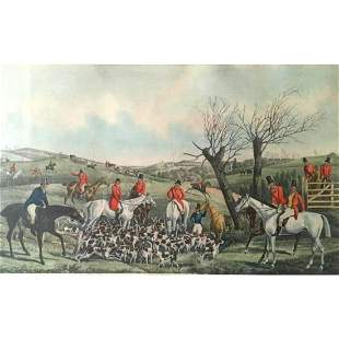 After H. Alken, Late 19thc Fox Hunt, Hunting Print