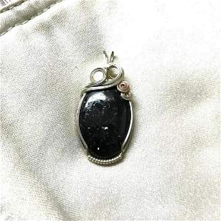 Artisan Sterling Silver & Nuummite, Socerer's Stone,