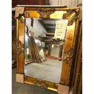 Carved Florentine Giltwood Beveled Mirror