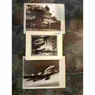 World War II Fighter Planes Septia Tone Photo Prints