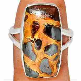 Stomatolite Fossil Sterling Silver Ring