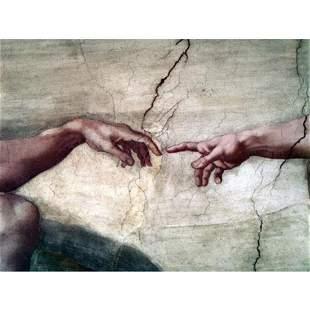 """Creation of Adam"" Sistine Chapel Italian Ceramic Tile"