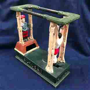 Acrobat Painted Replica Cast Iron Toy Bank