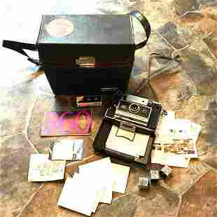 Vintage Polaroid 360 Land Camera & Case