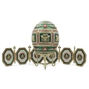 Russian Napoleonic Trinket Box Picture Frames Egg
