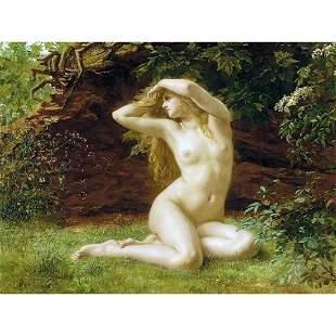 "After Prinsep, ""First Awakening of Eve"" Ceramic Art"