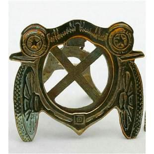 Antique Art Nouveau Brass Car Design Frame