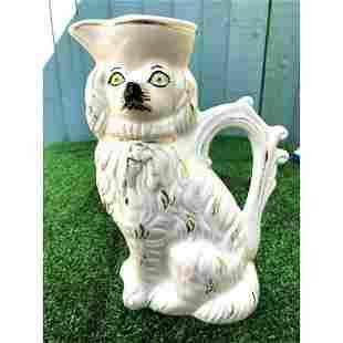 Mid 19thc English Staffordshire Spaniel Dog Porcelain