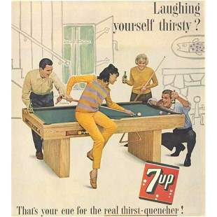 1963 Mid-Century 7-Up Soft Drink Soda Advertisement