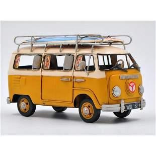 Volkswagen Mini Bus VW Van Surfboard Metal Automobile