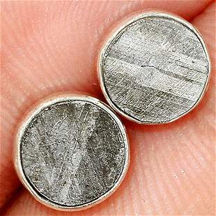 Muonionalusta Meteorite Sterling Silver Earrings