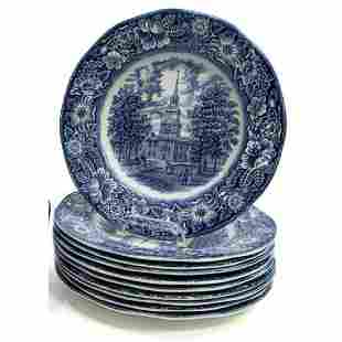 English Staffordshire Liberty Blue, Independence Hall,