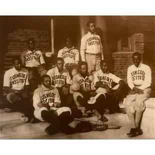 1880's Tuskegee Institute Baseball Team Sepia Tone