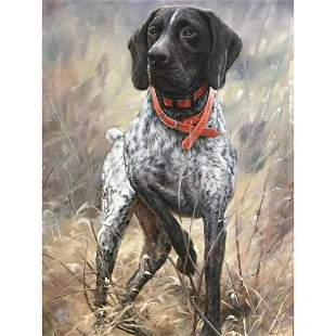 Hunting Dog Oil Painting, German Shorthaired Pointer