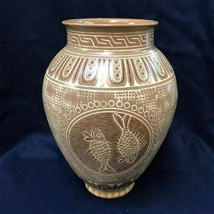 Signed Japanese Double Fish Vase