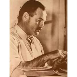 Ernest Hemingway Sepia Tone Photo Print