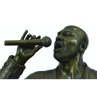 African American Jazz Blues Singer, Signed Bronze