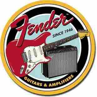 Fender Guitars & Amplifiers Vintage-style Metal Pub