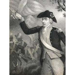 19th Intaglio Engraving, General Francis Marion, The