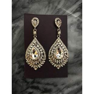 Art Deco Style Austrian Crystal Earrings