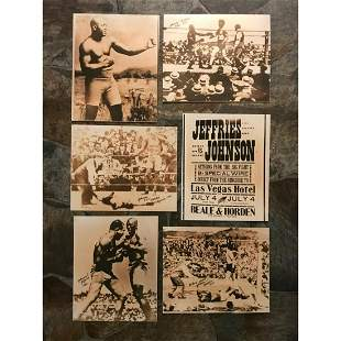African American History, Early 1900's Boxing Prints,