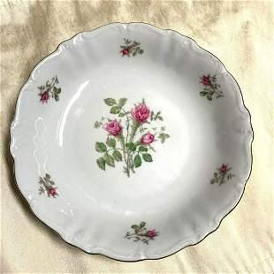 Vintage German Porcelain Rose Serving Bowl